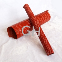 China Heat Resistant Red Double Layer Silicone Flexible Vent Air Duct Hose Tube For Air supplier